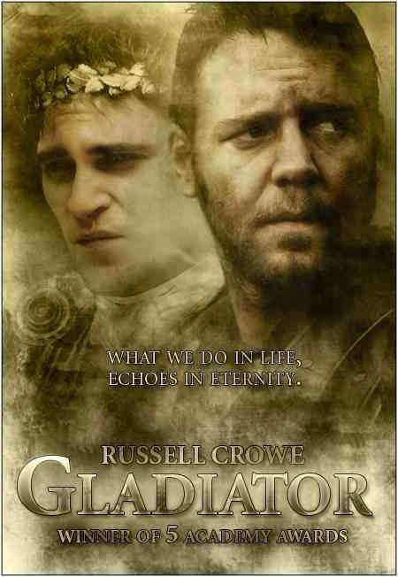 Russell Crowe Echoes In Eternity Quote 24x36 Movie Poster Print 2000 Gladiator