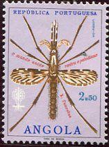 FRANCOBOLLI ANGOLA | Francobolli . Lotta contro la malaria - Malaria on Stamps Angola 1962