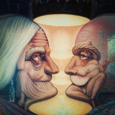 Surrealism and optical illusion painting by Russian artist Oleg Shuplyak