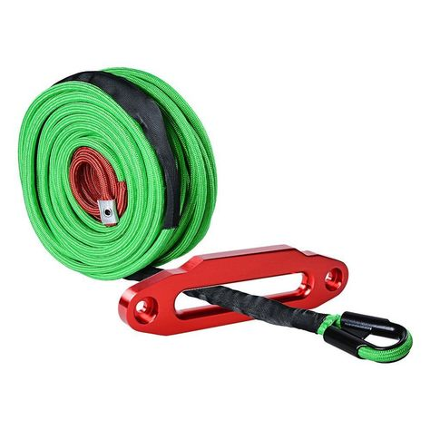 """ATV Winch Rope Red 3//8/""""*100ft Synthetic Rope Warn with Fairlead"""