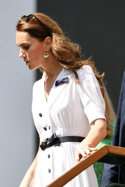 What Does Kate Middleton's Green & Purple Bow At Wimbledon Mean? The Accessory Is Part Of Her Charity Work