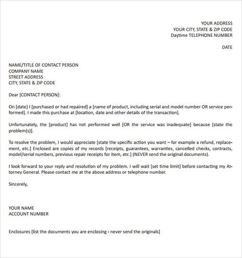 sample complaint letter format download documents pdf word intent - employee termination template