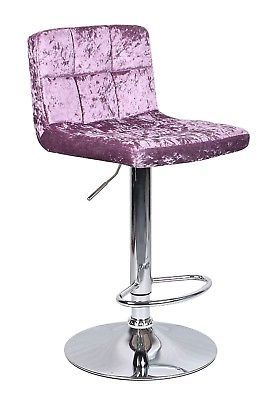 Crushed Velvet Bar Stool Leather Swivel Foot Rest Chair Kitchen Breakfast Seat Kitchen Chairs Chair Glamorous Interior Design