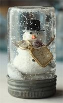 Let it snow!  Who knew that making your own snow globes could be so easy?