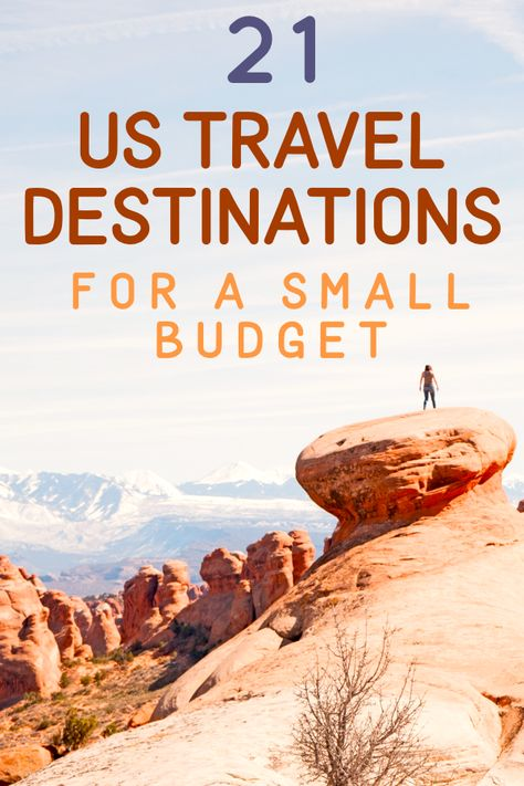 21 affordable US travel destinations! You really can take whatever type of vacation on a budget. Take a beach vacation, visit historical sites, have a family friendly vacation that the kids will love, visit big cities or have a peaceful vacation in a secluded cabin by the lake. This list will tell you which places will suit your needs AND your budget. | frugalfablife.com
