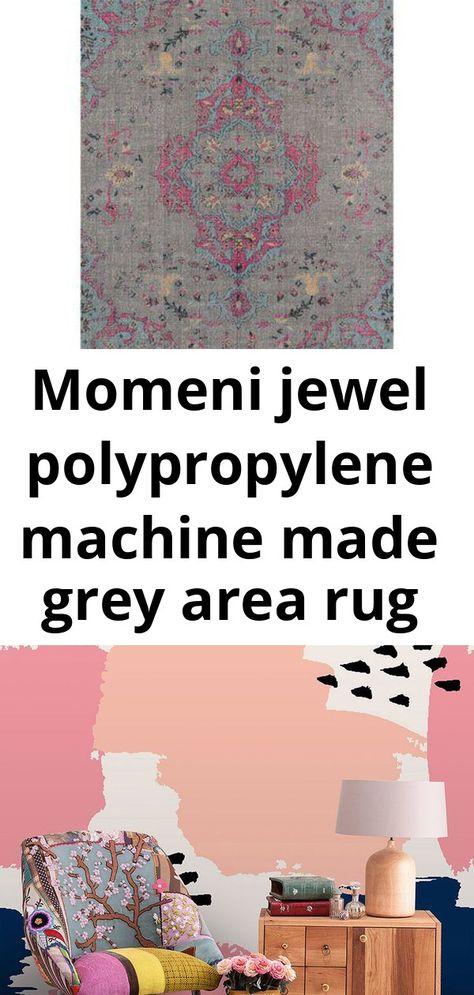 Momeni jewel polypropylene machine made grey area rug 7'10