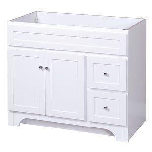 36 Inch Bathroom Vanity Cabinet Wayfair White Vanity Bathroom