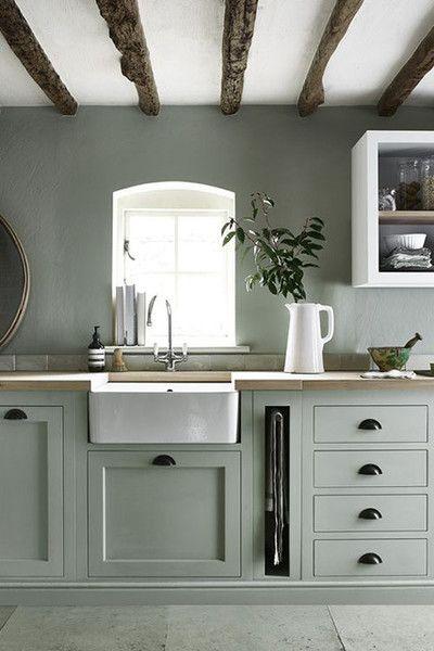 Sage Kitchen Cabinet Design Green Kitchen Cabinets Kitchen Interior