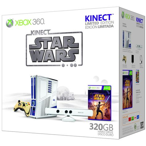 Amazon Com Xbox 360 Limited Edition Kinect Star Wars Bundle Video Games Star Wars Xbox Kinect Xbox 360 Console