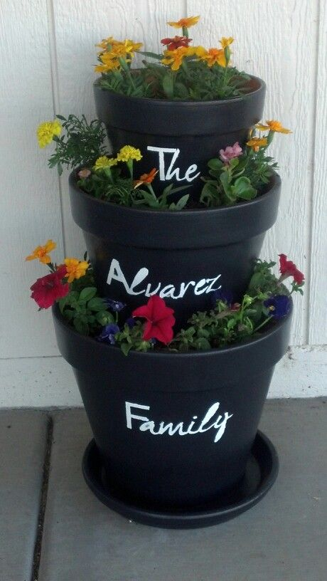 My very own stacked flower pot...SO much fun to make.