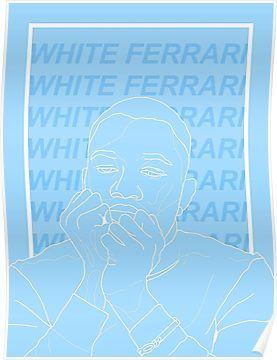 White Ferrari Frank Ocean Poster By Sera Frank Ocean