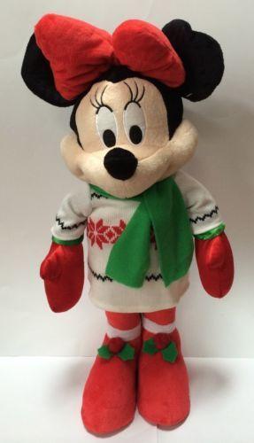 Christmas Minnie Mouse Plush.Disney Caroling Minnie Mouse 2002 Holiday Musical Caroling
