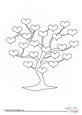 Love Tree Colouring Page Tree Coloring Page Coloring Pages
