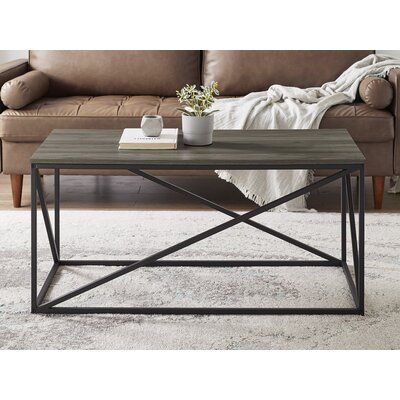 17 Stories Zepeda Frame Coffee Table In 2020 Decorating Coffee