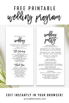 Like the bold font on this one.You can find Wedding programs and more on our website.Like the bold font on this one. Free Program Templates, Diy Wedding Program Template, Free Wedding Templates, Printable Wedding Programs, Templates Printable Free, Diy Wedding Fans, Diy Wedding Program Fans, Wedding Ceremony Programs, Wedding Trends