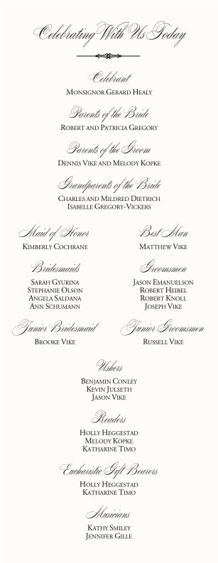 Free DIY Catholic Wedding Program AI Template. I\'m a professional ...