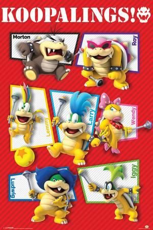 Super Mario Koopalings Prints Super Mario Coloring Pages