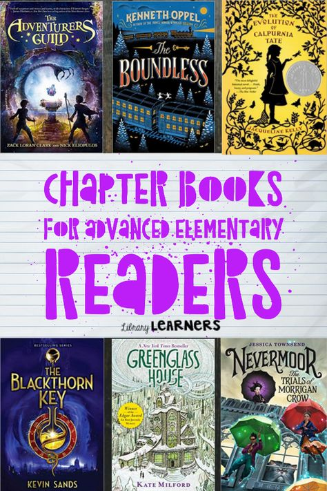 Third grade, fourth grade, & fifth grade elementary students can be advanced enough to read above their grade level. Check out this chapter books list! 5th Grade Books, 5th Grade Reading, Kids Reading, Reading Room, Reading Lists, Reading Strategies, Books For Boys, Childrens Books, Fifth Grade