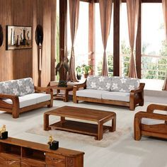 Living Rustico 1 In 2020 With Images Wooden Sofa Set Wooden Sofa Set Designs Wooden Sofa Designs