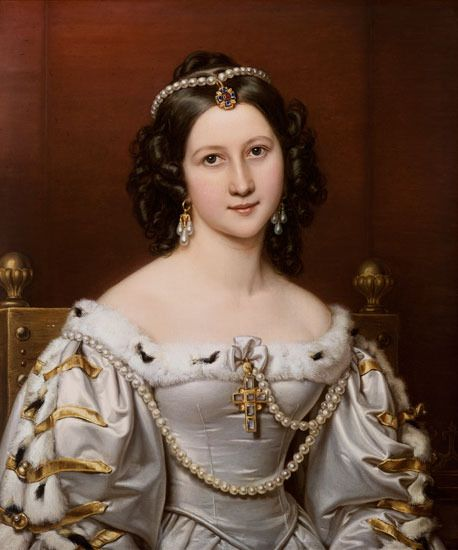 """- Charlotte von Hagn. Painted in 1828 in her costume of Wallenstein's daughter """"Thekla"""" in Schiller´s """"Wallenstein"""""""