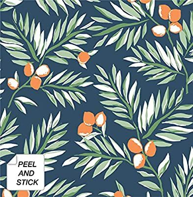 Nextwall Citrus Branch Peel And Stick Wallpaper Amazon Com Peel And Stick Wallpaper Wallpaper Roll Affordable Wallpaper