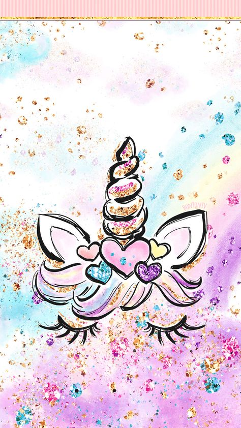 Phone Wallpapers HD Cute Unicorn Glitter Art - by BonTon TV - Free Backgrounds 1080x1920 wallpapers #wallpaper #pozadine #bontontv