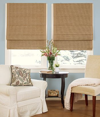 Terrific texture and innovative design comes together in this cane paper shade from Country Curtains!