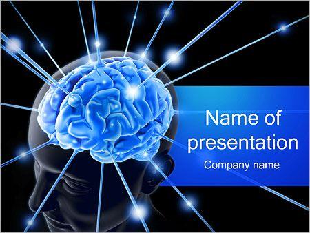Brain Powerpoint Templates Human Brain Nerves Powerpoint Template