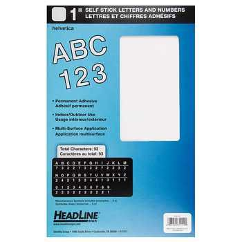 White 1 Headline Helvetica Stick On Letters Numbers Hobby Lobby 49007 Letters And Numbers Stick Letters Letters
