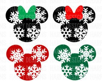 Minnie Mouse Snowflake Svg Mickey Mouse Snowflake Svg Christmas Svg Mickey Mouse Ears Svg Mickey Craft Mickey Mouse Christmas Disney Christmas Decorations