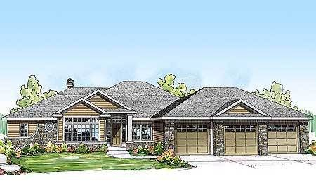 Plan 24376tw Striking Curb Appeal Ranch Style House Plans Ranch House Plans Ranch House