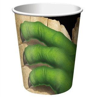 8 DINOSAUR PREHISTORIC PARTY 9oz PAPER CUPS ~ Birthday Supplies Beverage Drink