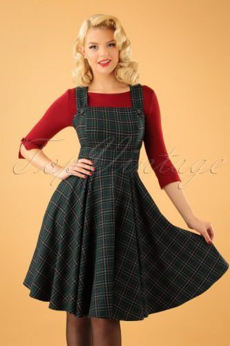 Vintage 50s Dresses Best 1950s Dress Styles Vintage Dresses 50s Tartan Dress 1940s Fashion Dresses