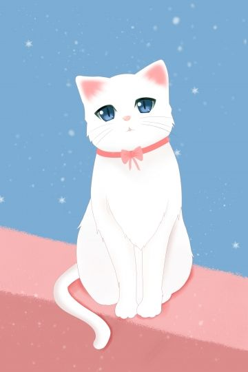 Millions Of Png Images Backgrounds And Vectors For Free Download Pngtree Animal Illustration Cute Animals Cat Illustration Anime white cat wallpaper
