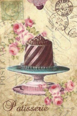 Торт винтажная открытка