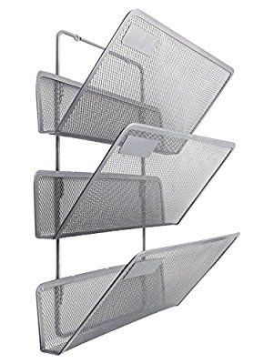 Amazon Com Easypag 3 Tier Assembly Mesh Wall File Pocket Hanging File Organizer Holder Black Office Prod Wall File Holder Wall File Hanging File Organizer