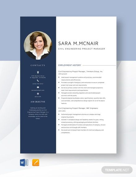 Free Designer Resume Cv Template Word Doc Psd Indesign Project Manager Resume Civil Engineering Projects Manager Resume