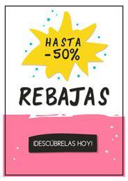 9d2347b5e Cartel de rebajas hasta el 50% 👚👙👗👓👔 #comercio #tienda #negocio  #comerciolocal #local #pymes #rebajas #empresa #descuentos #ofertas