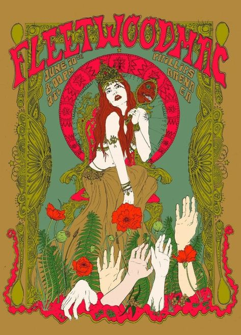 Poster Art, Retro Poster, Kunst Poster, Poster Prints, Gig Poster, Fleetwood Mac, Tour Posters, Band Posters, Janis Joplin