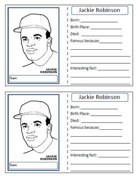 Have your students make their own baseball cards by filling in facts