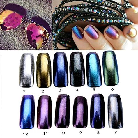 enForten 5g Mirror Chrome Refective Nail Powder Metallic Nail Polish Effect Glitter Shinning Pigment Color 12 -- More info could be found at the image url.Note:It is affiliate link to Amazon.