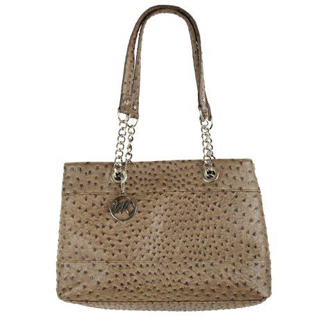 Beautiful Nicole Shoulder Bag in Mink Ostrich  Emilie M Handbags