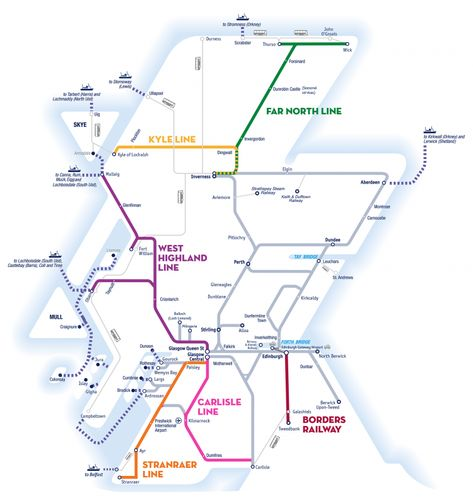 Train Routes In Scotland Map.Great Scenic Rail Journeys Of Scotland Route Map Vacation Pinterest