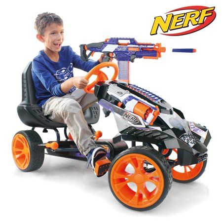 Crochet Toys For Boys NERF Battle Racer is the ultimate Go Kart! Get ready to experience the exhilaration of the NERF Battle Racer. Along with the innovative, durable features and sporty design, the NERF Battle Racer gives an authentic driving experience Go Karts For Kids, Kids Ride On, Arma Nerf, Pistola Nerf, Nerf Gun Storage, Nerf Toys, Nerf Games, Kids Toys For Boys, Cool Kids Toys