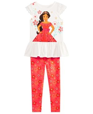 GOLDEN GIRL Little Girls Printed Cotton Top And Capri Set