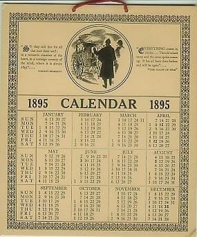 Image Result For 1895 Calendar Calendar Calender