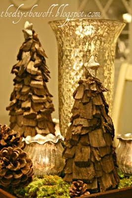 Diy Styrofoam Wood Chip Tree Tutorial Bricolage Noel Noel