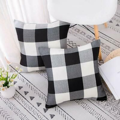 Set Of 2 Black And White Throw Pillows Farmhouse Decorative Buffalo Checkers Fashion Home Garden Homedcor In 2020 Throw Pillows White Throws