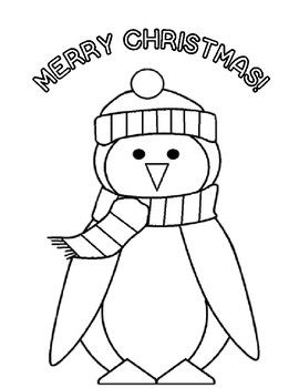 Free Christmas Activities Free Penguin Christmas Coloring Page