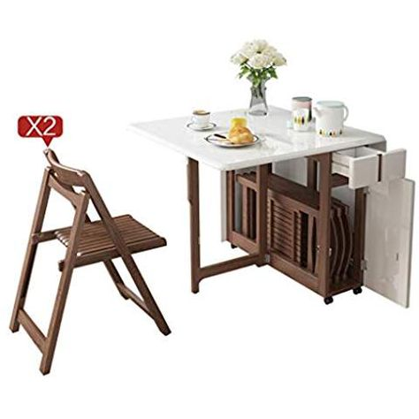 Modern Foldable Dining Table Household Telescopic Kitchen Table And Chair Set Color Table 2 Chairs Dining Kitchen Table Dec Foldable Dining Table Table Chair Sets Dining Table